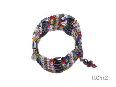 Multicolor pearl gemstone and crystal bracelet HC112 Image 1