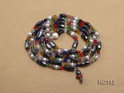 Multicolor pearl gemstone and crystal bracelet HC112 Image 3