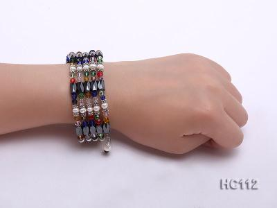 Multicolor pearl gemstone and crystal bracelet HC112 Image 4