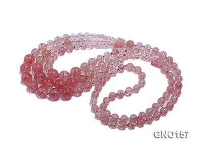 8mm Watermelon Quartz Three-Row Necklace GNO157 Image 3