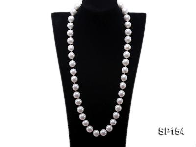 16mm light White round seashell pearl necklace SP154 Image 1