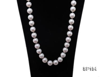 16mm light White round seashell pearl necklace SP154 Image 2