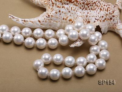 16mm light White round seashell pearl necklace SP154 Image 5