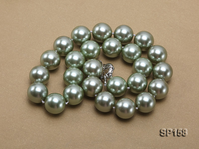 16mm green round seashell pearl necklace big Image 3