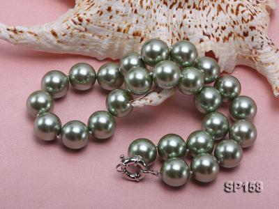 16mm green round seashell pearl necklace SP158 Image 4