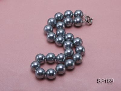 16mm grey round seashell pearl necklace SP159 Image 2