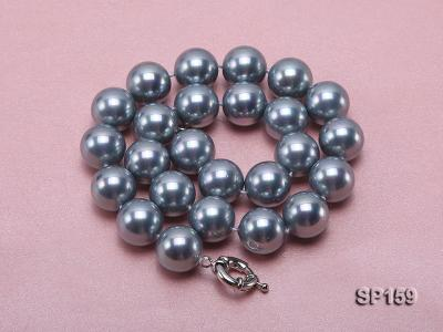 16mm grey round seashell pearl necklace SP159 Image 3
