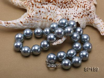16mm grey round seashell pearl necklace SP159 Image 4
