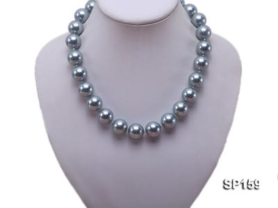 16mm grey round seashell pearl necklace SP159 Image 5