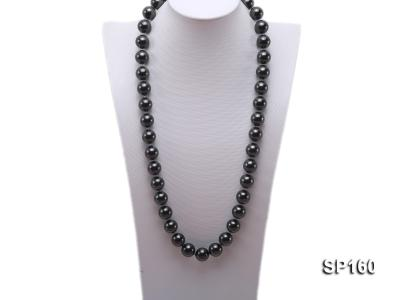16mm black round seashell pearl necklace SP160 Image 1