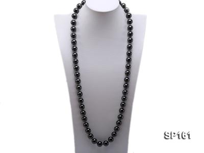 14mm black round seashell pearl necklace SP161 Image 1