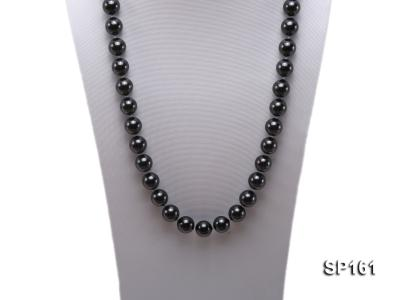 14mm black round seashell pearl necklace SP161 Image 2