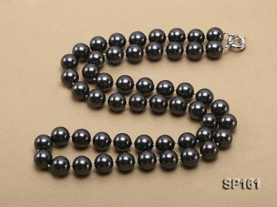 14mm black round seashell pearl necklace SP161 Image 4