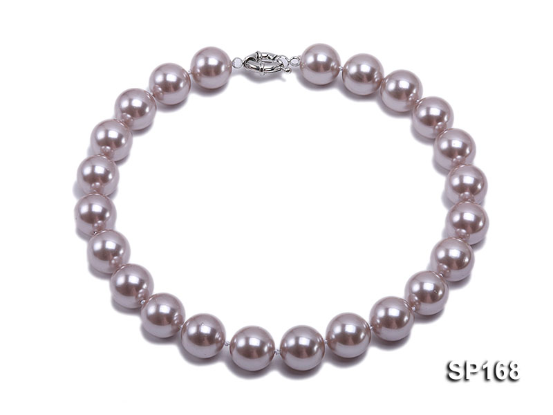 16mm purple round the south seashell pearl necklace big Image 1