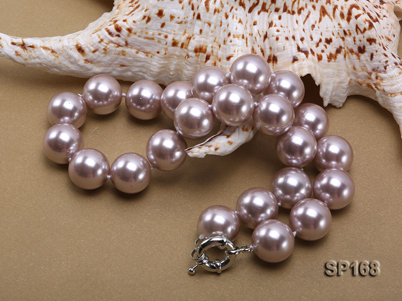 16mm purple round the south seashell pearl necklace big Image 2