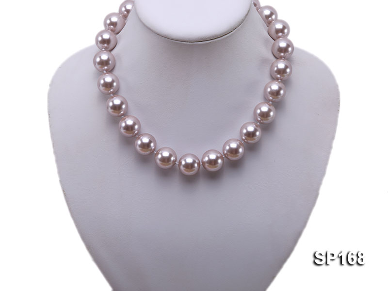 16mm purple round the south seashell pearl necklace big Image 5