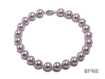 16mm purple round the south seashell pearl necklace SP168 Image 1