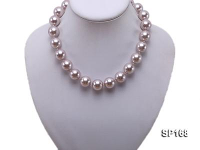 16mm purple round the south seashell pearl necklace SP168 Image 5