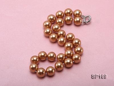 14mm coffee round seashell pearl necklace SP169 Image 2