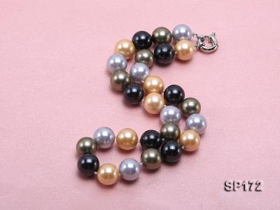 14mm colorful round seashell pearl necklace SP172 Image 2