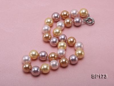 14mm colorful round seashell pearl necklace SP173 Image 3