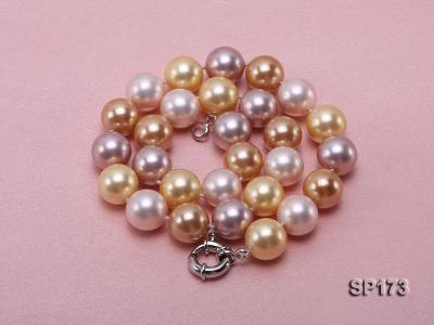14mm colorful round seashell pearl necklace SP173 Image 4