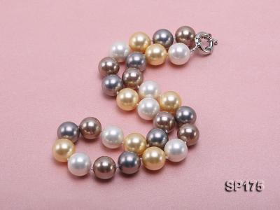 14mm multicolor round seashell pearl necklace SP175 Image 2