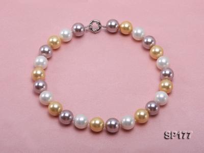 16mm multicolor round seashell pearl necklace SP177 Image 1