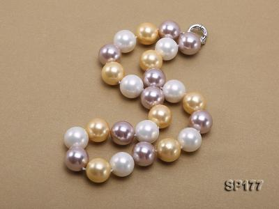16mm multicolor round seashell pearl necklace SP177 Image 4