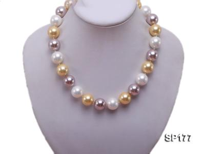 16mm multicolor round seashell pearl necklace SP177 Image 5