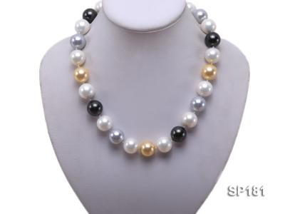 16mm multicolor round seashell pearl necklace SP181 Image 5