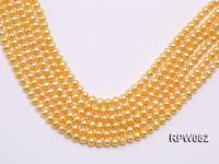 Wholesale 7mm Golden Round Freshwater Pearl String RPW082