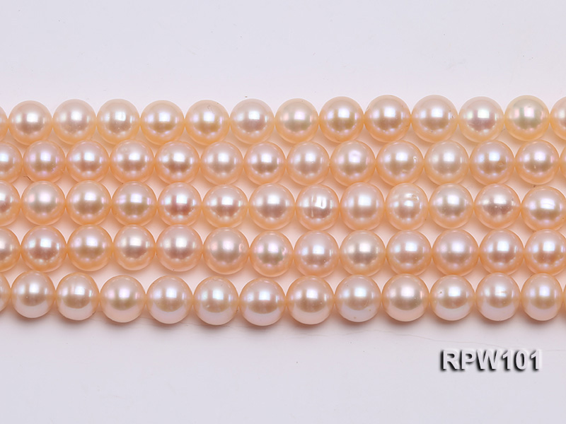 Wholesale AAA-grade  8-9mm Pink Round Freshwater Pearl String big Image 2