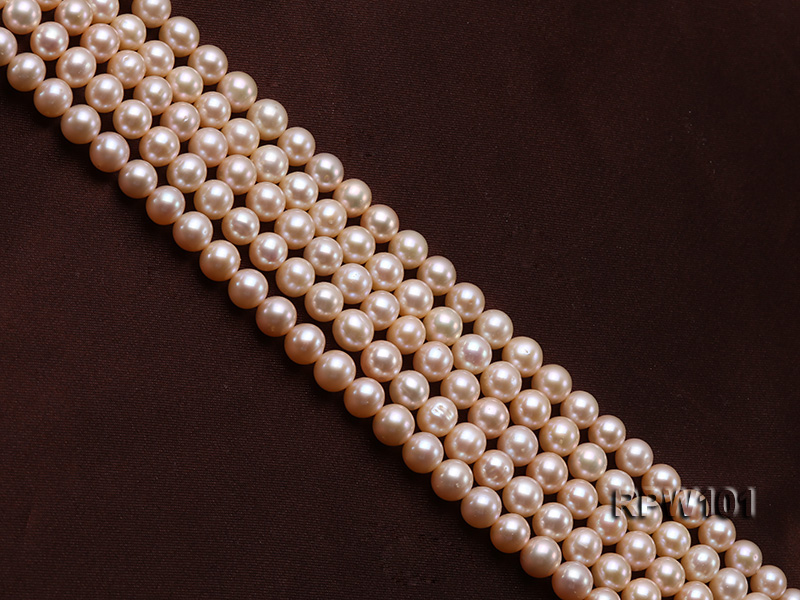 Wholesale AAA-grade  8-9mm Pink Round Freshwater Pearl String big Image 3