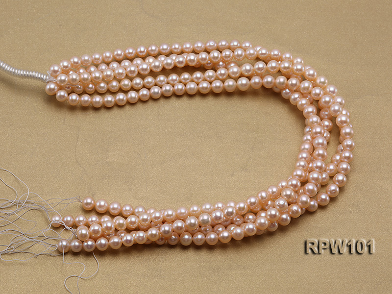 Wholesale AAA-grade  8-9mm Pink Round Freshwater Pearl String big Image 4