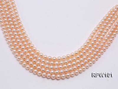 Wholesale AAA-grade  8-9mm Pink Round Freshwater Pearl String RPW101 Image 1