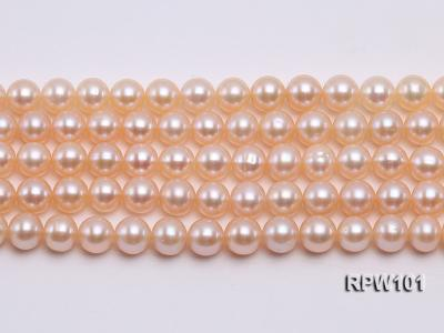 Wholesale AAA-grade  8-9mm Pink Round Freshwater Pearl String RPW101 Image 2