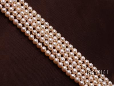 Wholesale AAA-grade  8-9mm Pink Round Freshwater Pearl String RPW101 Image 3