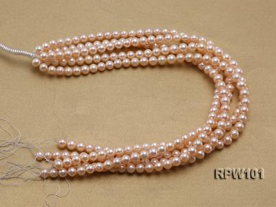 Wholesale AAA-grade  8-9mm Pink Round Freshwater Pearl String RPW101 Image 4