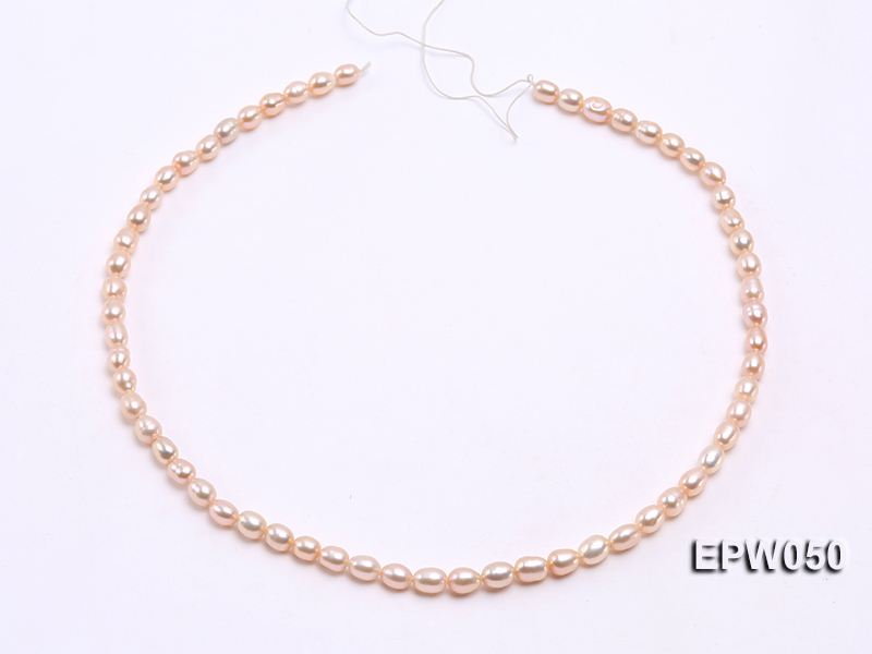 Wholesale 5x6.5mm Pink Rice-shaped Freshwater Pearl String big Image 3