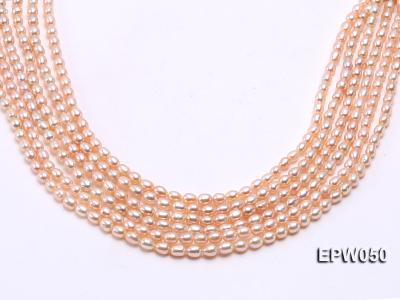 Wholesale 5x6.5mm Pink Rice-shaped Freshwater Pearl String EPW050 Image 2