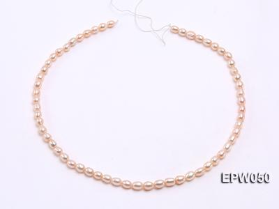 Wholesale 5x6.5mm Pink Rice-shaped Freshwater Pearl String EPW050 Image 3