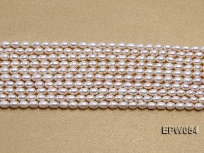Wholesale 4.5x6.5mm Classic White Rice-shaped Freshwater Pearl String EPW054 Image 2
