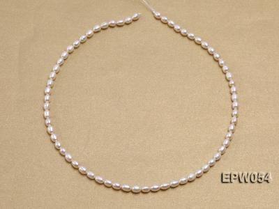 Wholesale 4.5x6.5mm Classic White Rice-shaped Freshwater Pearl String EPW054 Image 3