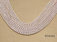 Wholesale 4.5x6.5mm Classic White Rice-shaped Freshwater Pearl String EPW054