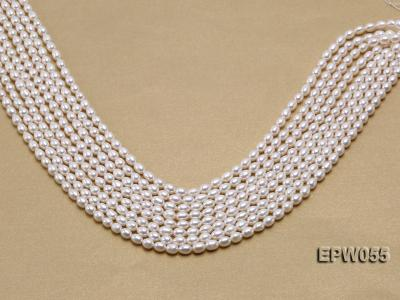 Wholesale 5.5x7.5mm Classic White Rice-shaped Freshwater Pearl String EPW055 Image 2