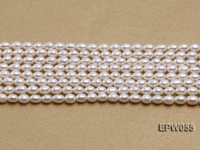 Wholesale 5.5x7.5mm Classic White Rice-shaped Freshwater Pearl String EPW055 Image 1