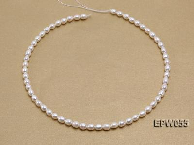 Wholesale 5.5x7.5mm Classic White Rice-shaped Freshwater Pearl String EPW055 Image 3