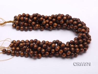 Wholesale 10mm Round Golden Coral Beads Loose String CRW079 Image 3