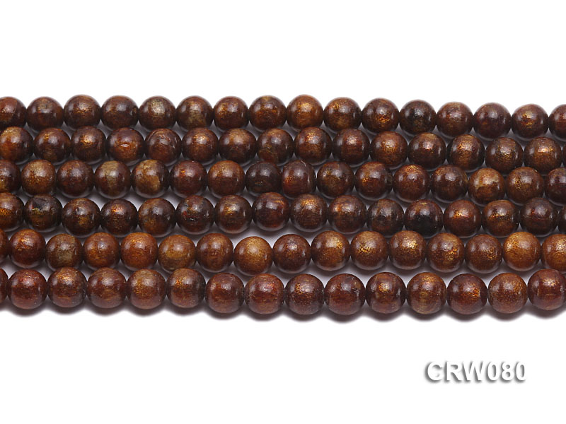 Wholesale 8.5mm Round Golden Coral Beads Loose String big Image 2